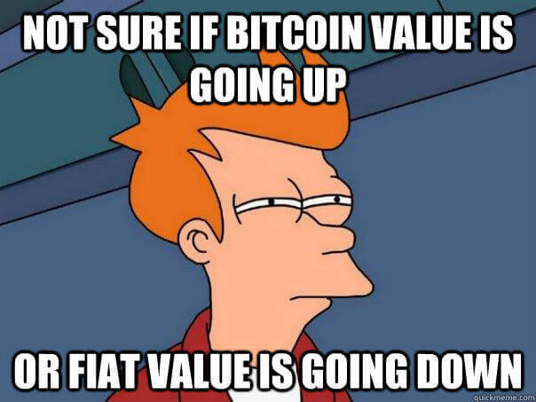 the uncertainity blockchain meme