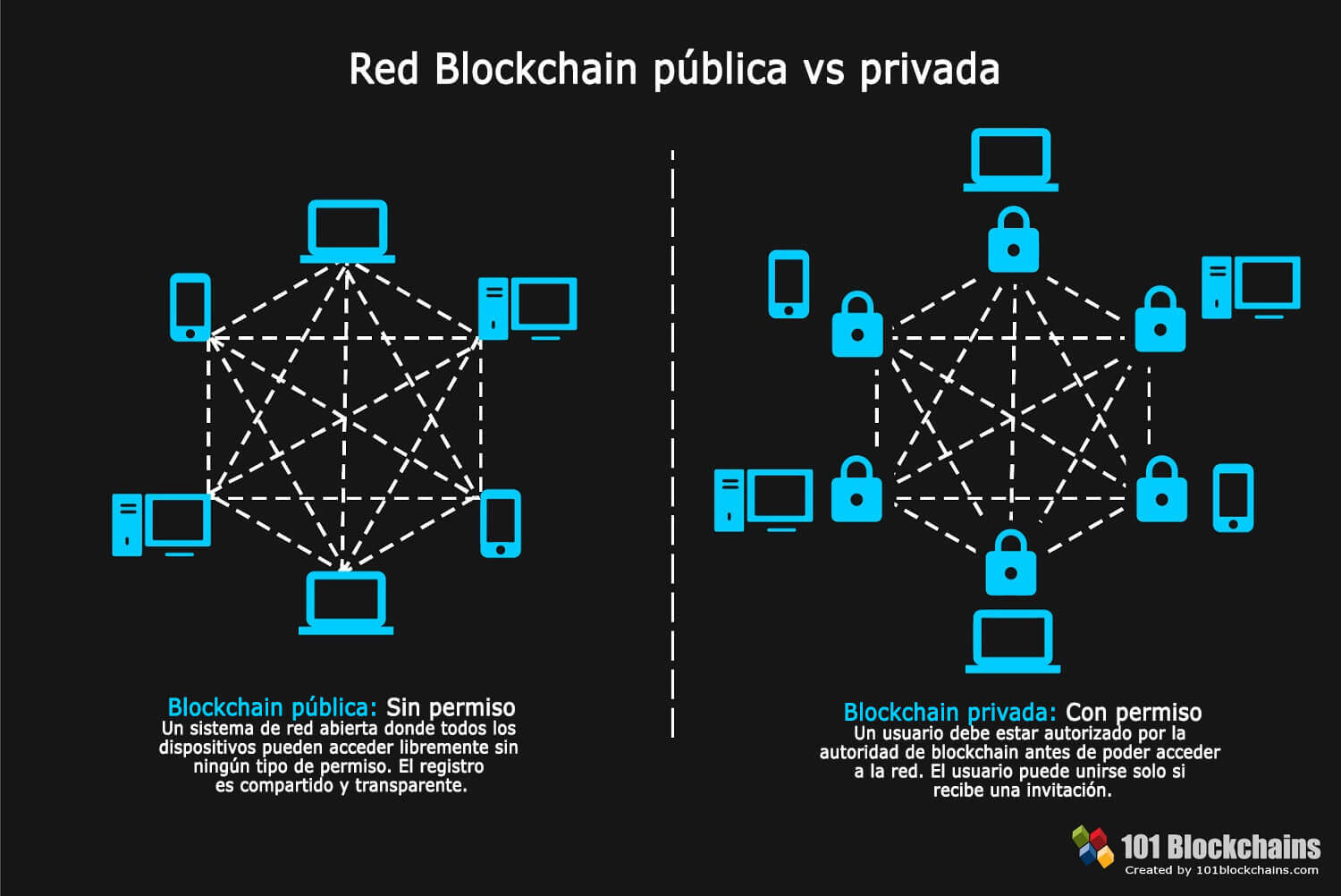 Red Blockchain pública vs privada