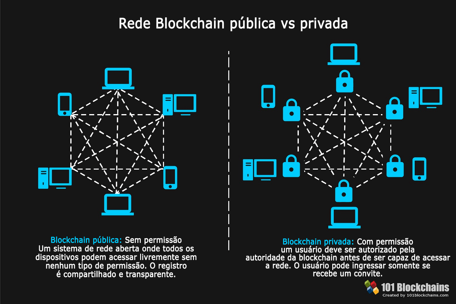 Rede Blockchain pública vs privada