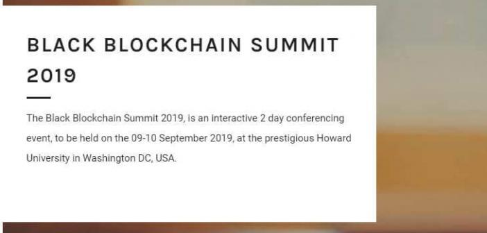 black blockchain summit event