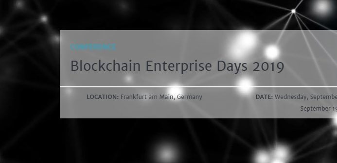 Blockchain Enterprise Days 2019