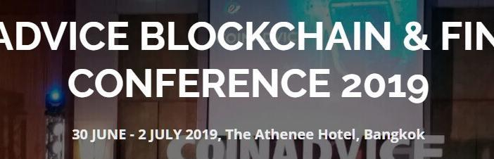 Coinadvice blockchain and Fintech conference 2019