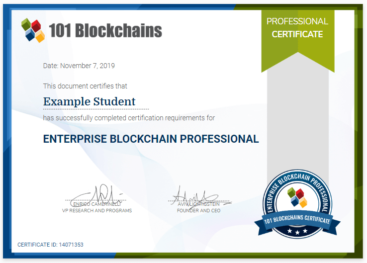 Enterprise Blockchain professional Certification