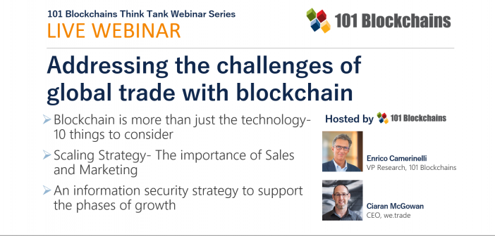 trade with blockchain webinar