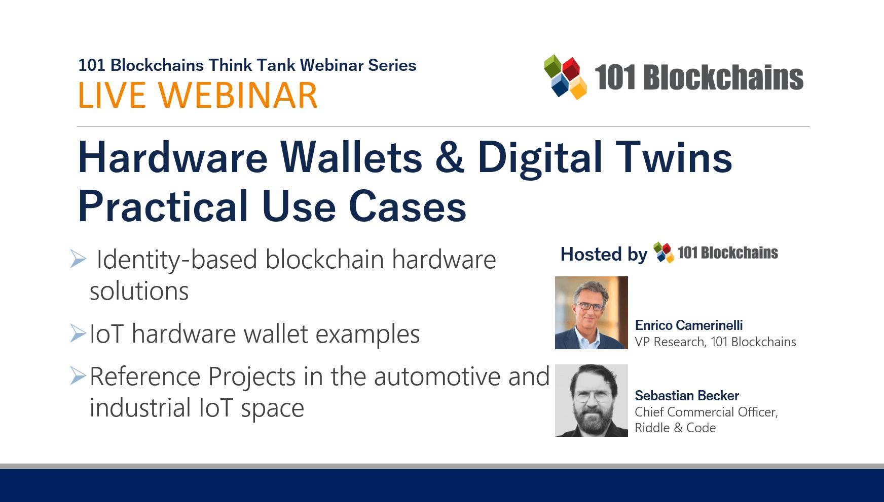 hardare wallets and digital twins webinar