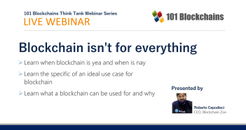 webinar blockchain is not for everything