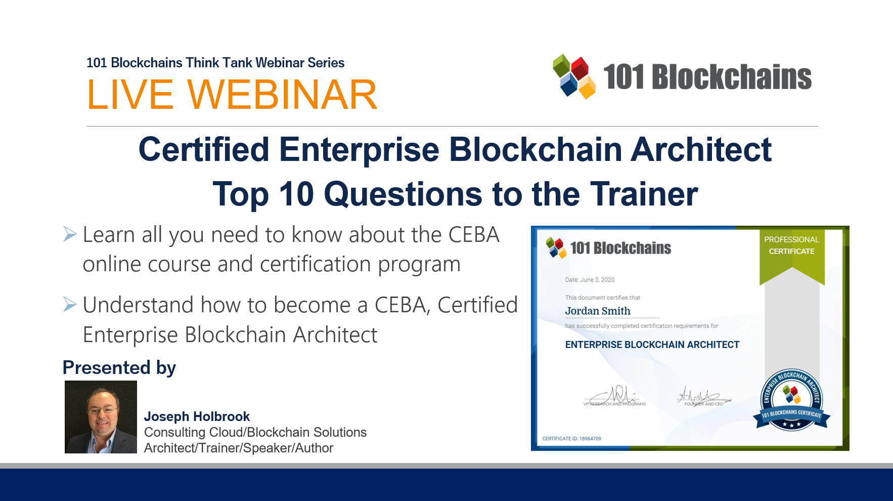 ceba the certified enterprise blockchain architect webinar
