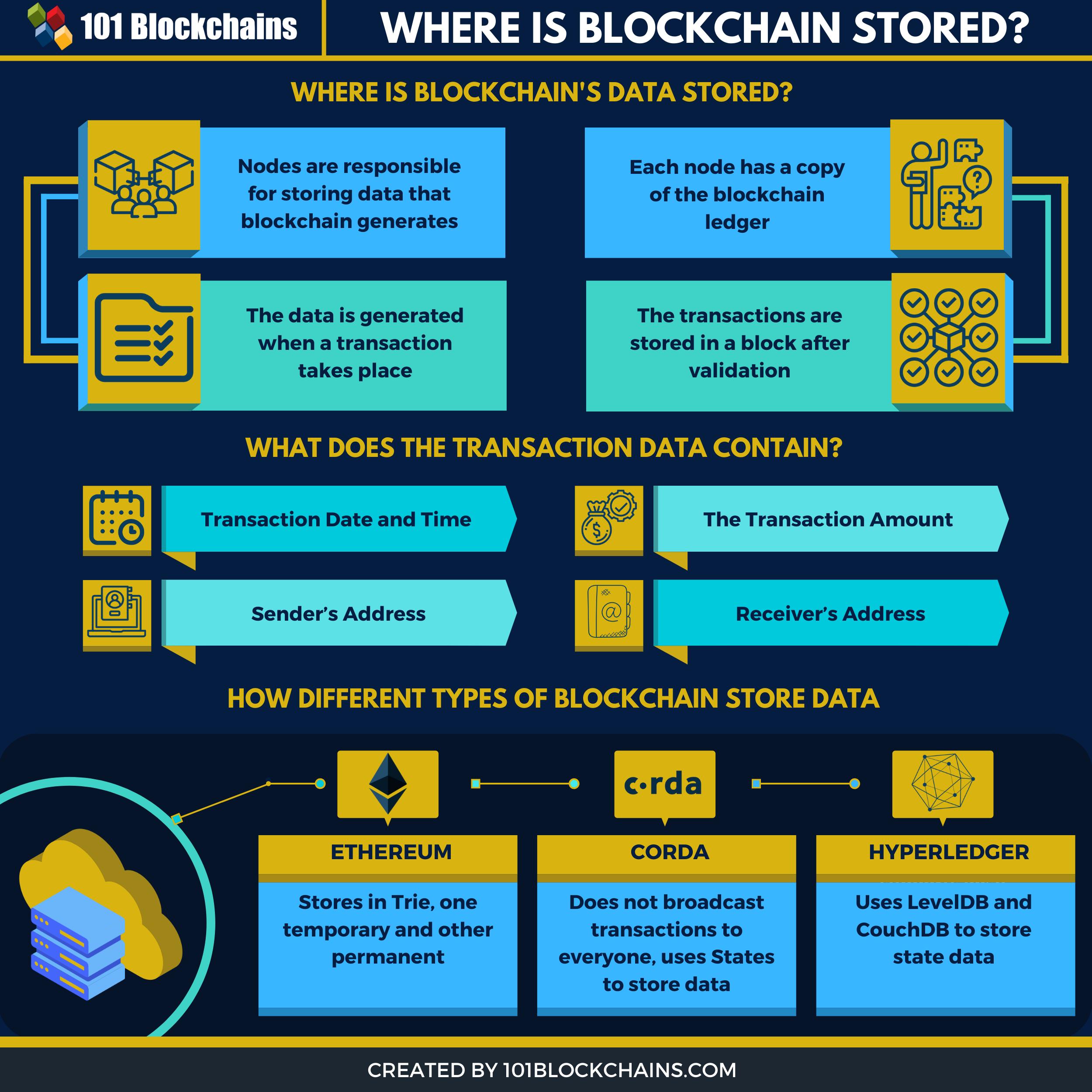 where blockchain is stored