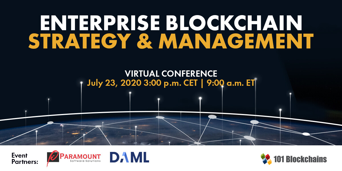 Blockchain Strategy and management virtual conference