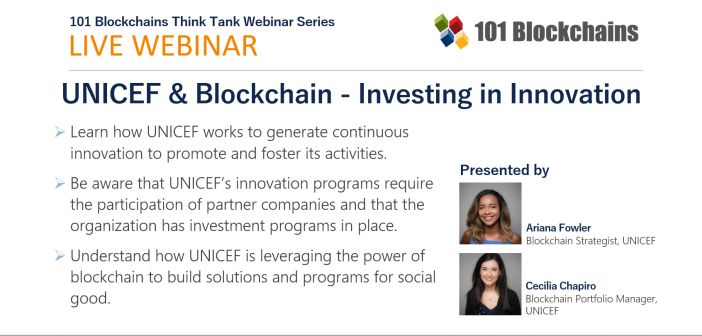 webinar unicef investing in blockchain