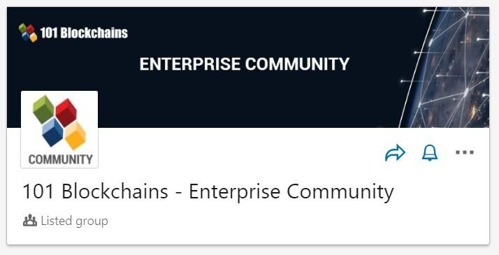 101 Blockchains Enterprise Community