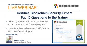 WEBINAR 101 Blockchains CBSE Program