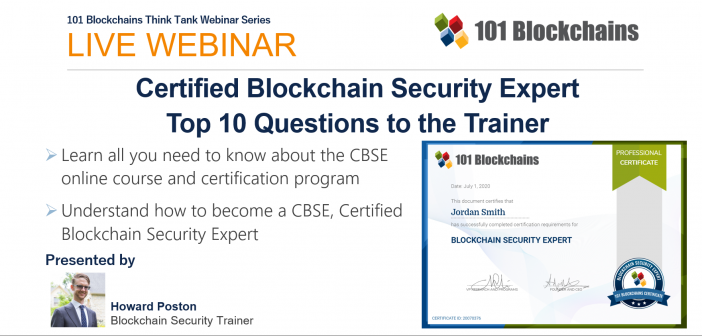 WEBINAR 101 Blockchains CBSE Program