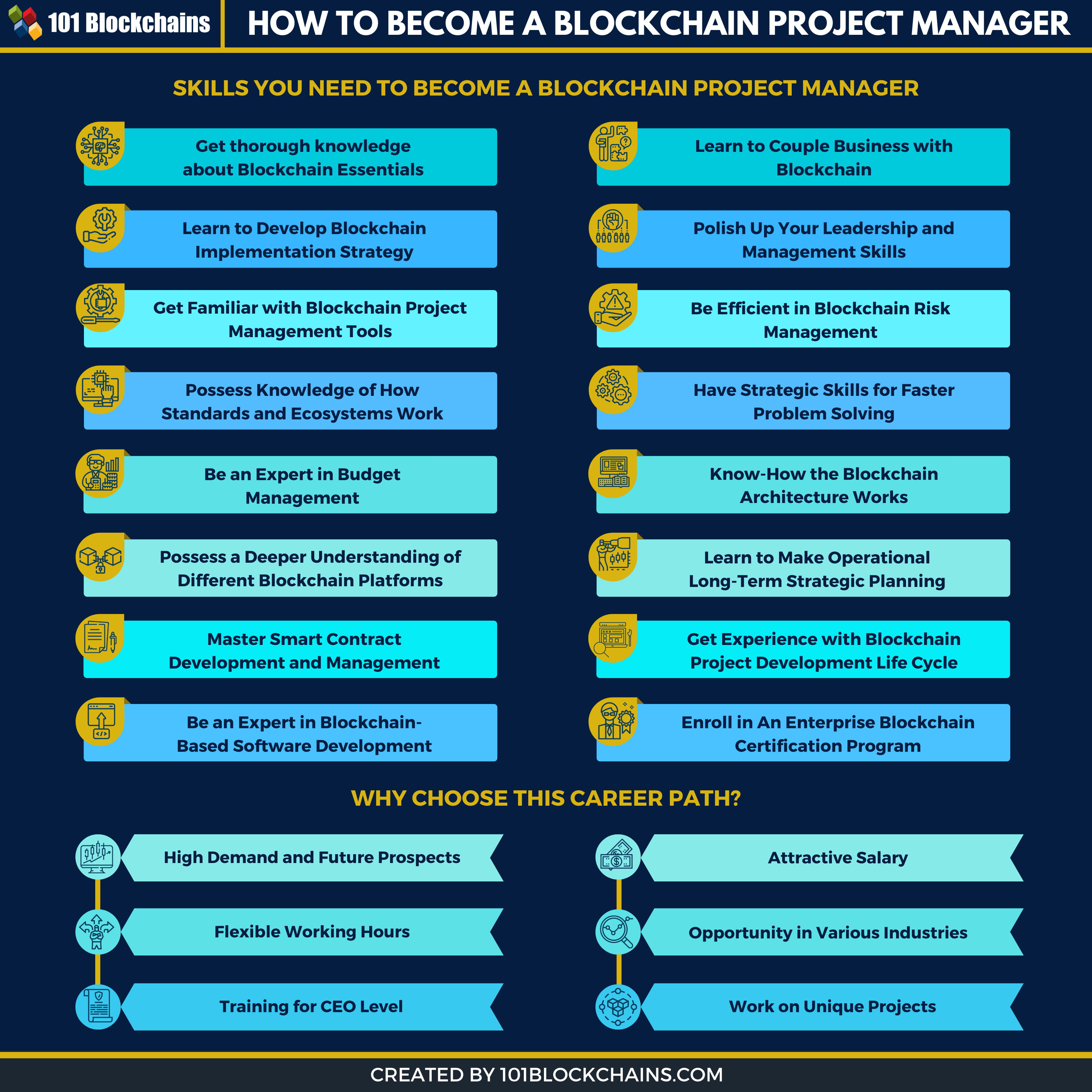 blockchain project manager skills