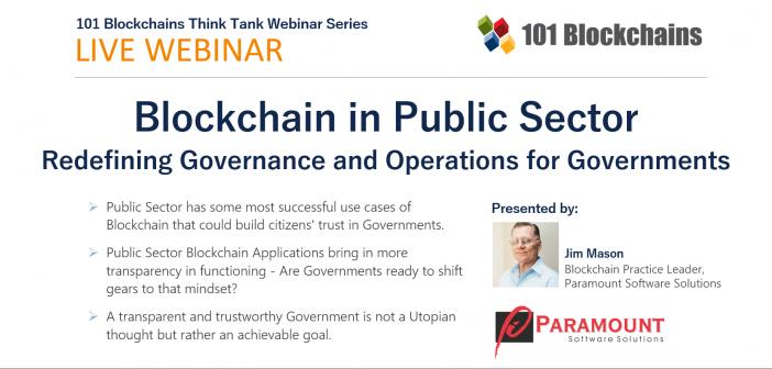 webinar on blockchain in public sector