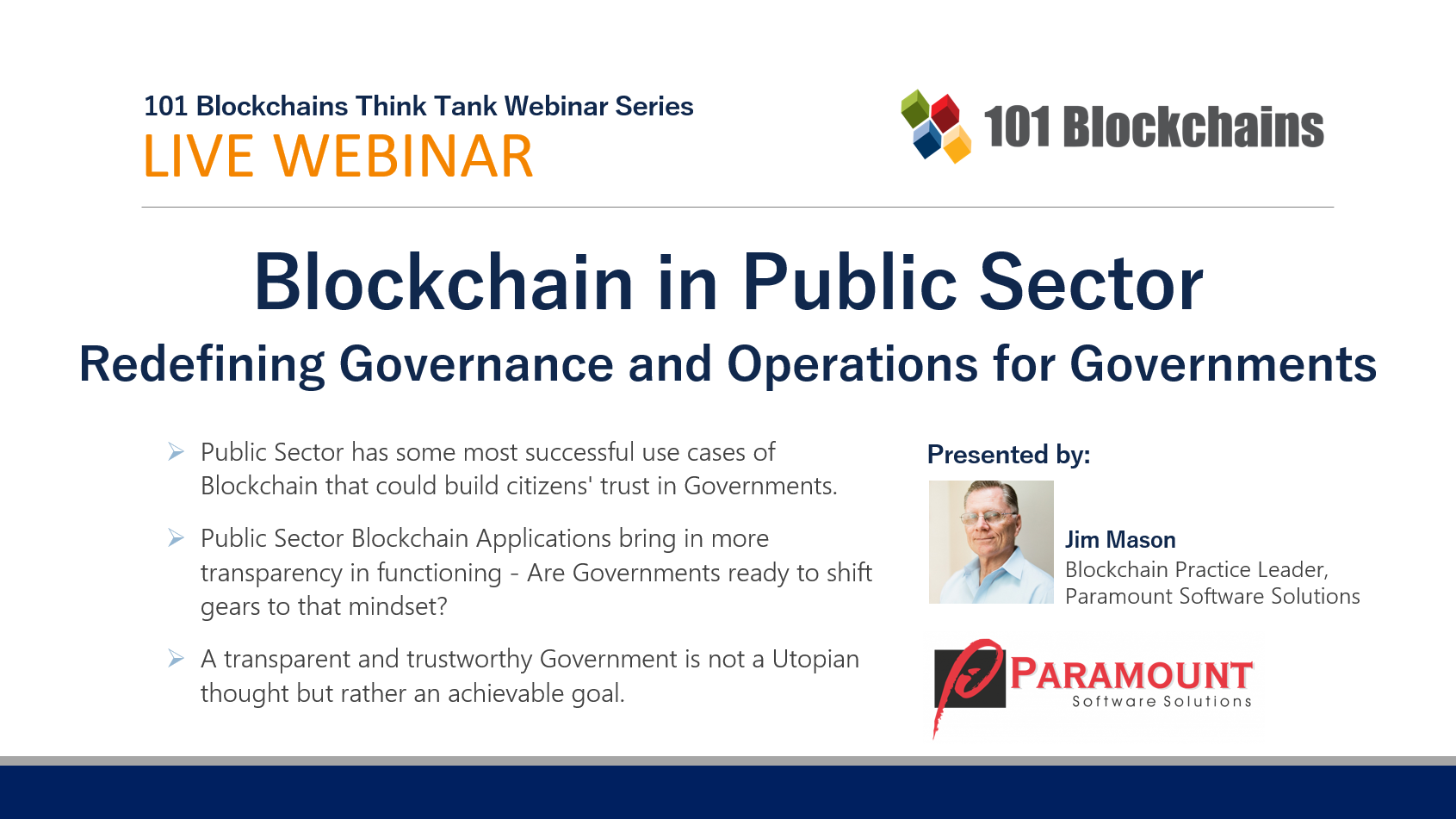 webinar on blockchain in public sector