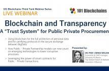 Blockchain for Public Private Procurement Webinar ppp