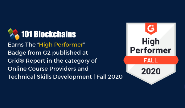 G2 Summer 2020 Reports 101 Blockchains Named as High Performer Online Course