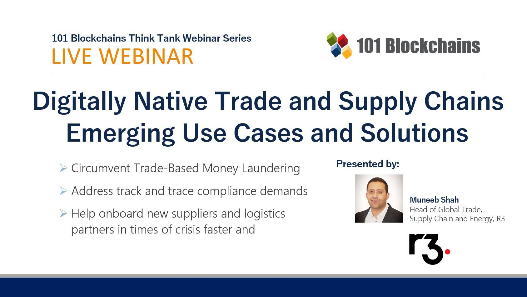 Trade and Supply Chains webinar