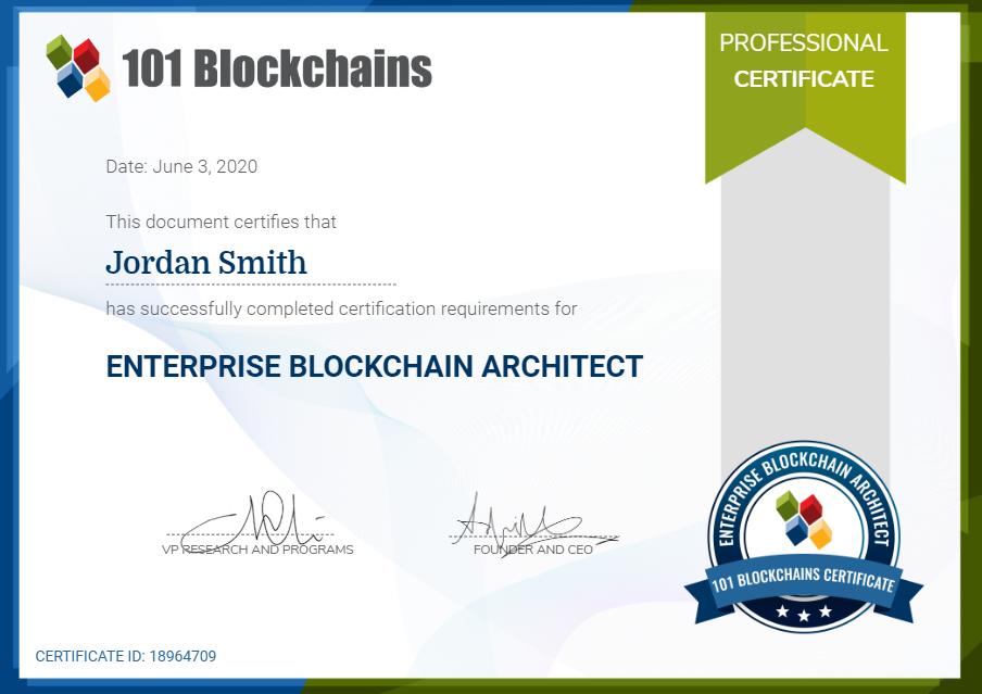 enterprise blockchain architect certification