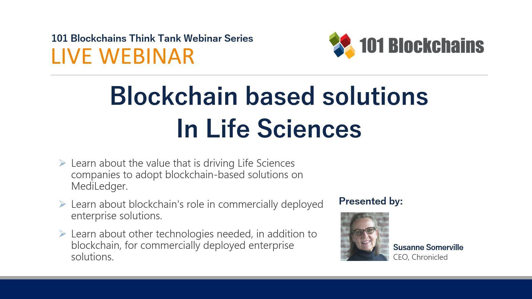 Blockchain based solutions in Life Sciences Webinar