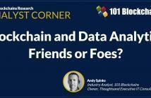 blockchain and data analytics