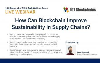 how can blockchain improve sustainability webinar