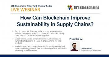 how can blockchain improve sustainability webinar