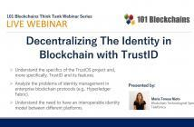 Decentralizing The Identity in Blockchain webinar