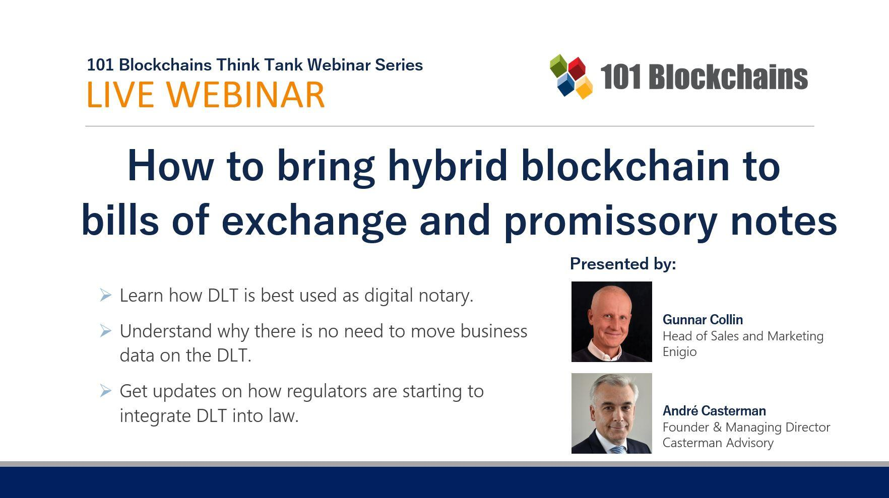 Webinar How to bring hybrid blockchain to bills of exchange and promissory notes