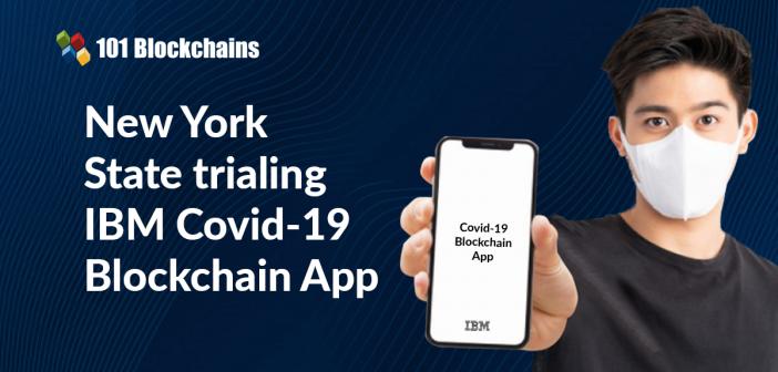 IBM COVID-19 blockchain app