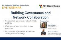 Building Governance and network webinar