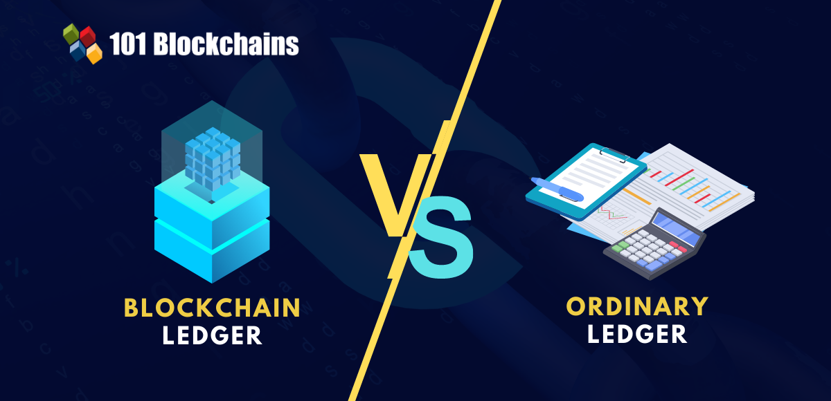 blockchain ledger vs ordinary ledger