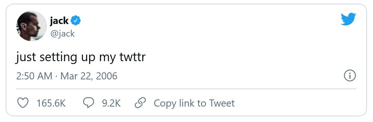 the first tweet