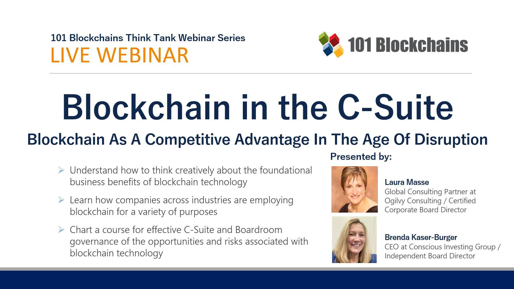 blockchain in the c-suite webinar