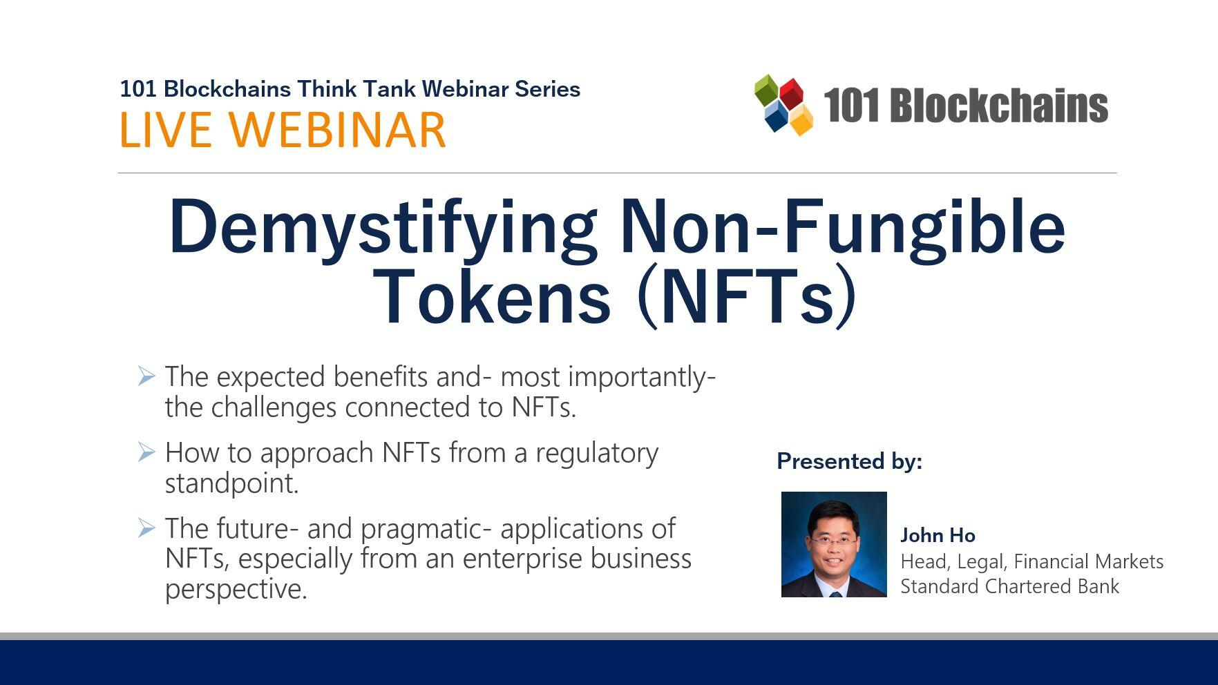 Demystifying Non-Fungible Tokens (NFTs) webinar