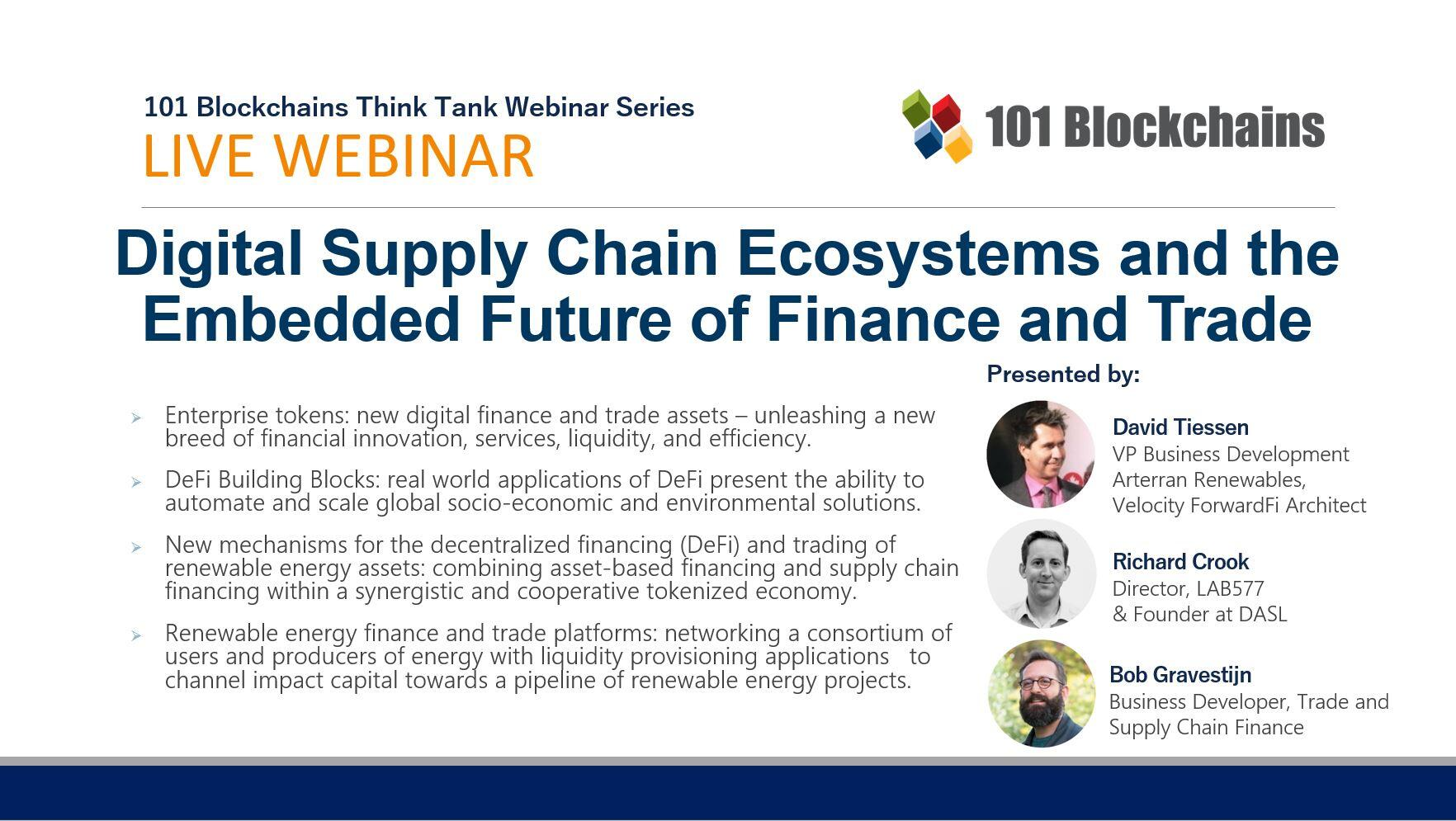 Digital Supply Chain Ecosystems and the Embedded Future of Finance and Trade webinar